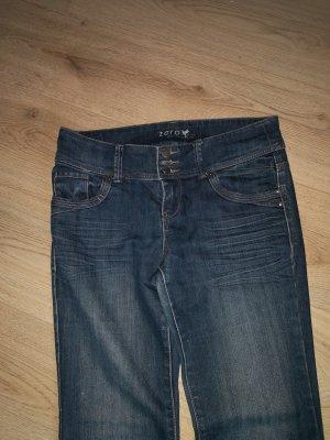 Zero  Damen Jeans  blau mit Waschfalten