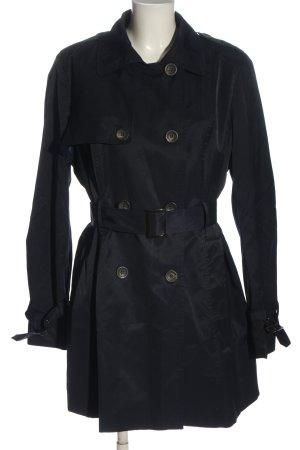 Zero Duffel Coat black striped pattern casual look