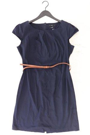 Zero Etuikleid Größe 44 mit Gürtel Kurzarm blau aus Baumwolle
