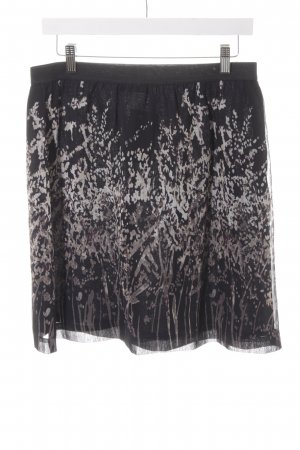 Zero Faltenrock schwarz-grau abstraktes Muster Business-Look