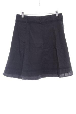 Zero Spódnica z godetami czarny-jasnoszary Wzór w kratkę W stylu casual