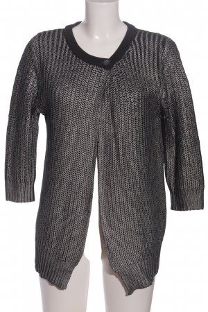 Zero Coarse Knitted Sweater light grey cable stitch casual look