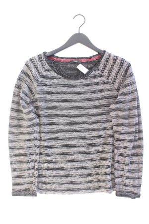 Zero Grobstrickpullover Größe 42 gestreift grau aus Baumwolle