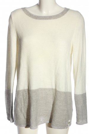 Zero Crochet Sweater cream-light grey flecked casual look
