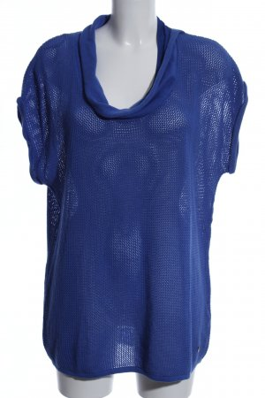 Zero Gehaakt shirt blauw casual uitstraling