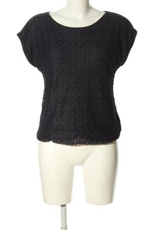 Zero Crochet Shirt black casual look