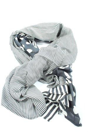 Zero Foulard blanc-noir motif de tache style décontracté