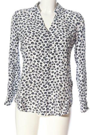 Zero Hemd-Bluse weiß-schwarz Allover-Druck Business-Look