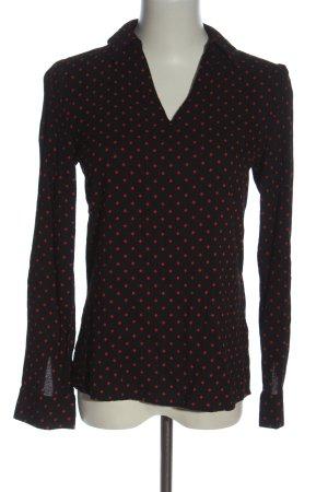 Zero Hemd-Bluse schwarz-rot Casual-Look