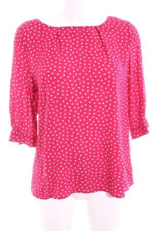 Zero Hemd-Bluse pink-weiß Punktemuster Casual-Look