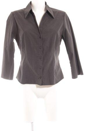 Zero Hemd-Bluse anthrazit schlichter Stil