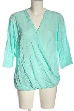Zero Blusa-camisa turquesa estilo «business»