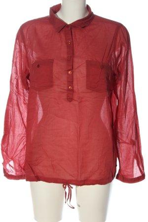 Zero Blusa-camisa rojo estilo «business»