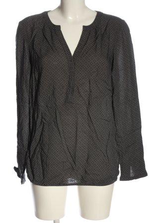 Zero Blusa-camisa gris claro-negro estampado repetido sobre toda la superficie