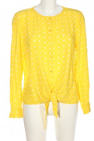 Zero Hemd-Bluse blassgelb-weiß Punktemuster Casual-Look