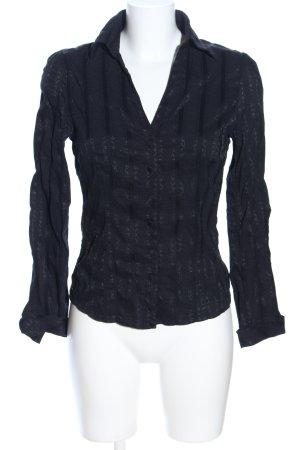 Zero Hemd-Bluse schwarz Allover-Druck Business-Look