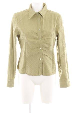 Zero Hemd-Bluse khaki Streifenmuster Casual-Look