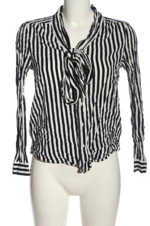 Zero Hemd-Bluse schwarz-weiß Allover-Druck Casual-Look