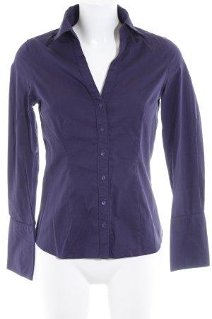 Zero Hemd-Bluse dunkelviolett Business-Look