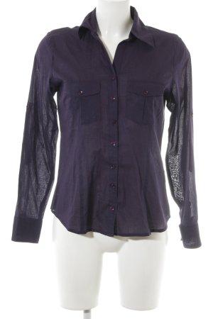 Zero Hemd-Bluse dunkelviolett Casual-Look