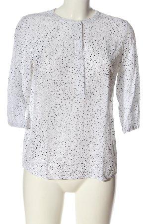 Zero Hemd-Bluse weiß-schwarz Allover-Druck Casual-Look