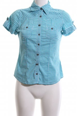 Zero Hemd-Bluse blau-weiß Allover-Druck Casual-Look