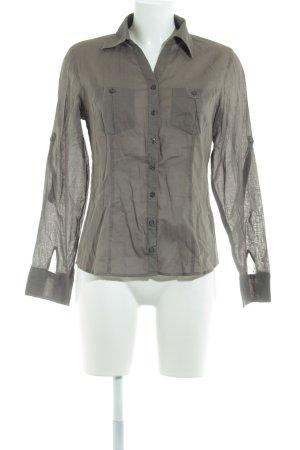 Zero Hemd-Bluse grüngrau schlichter Stil