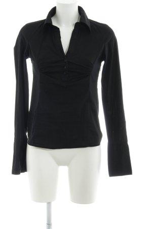 Zero Hemd-Bluse schwarz schlichter Stil