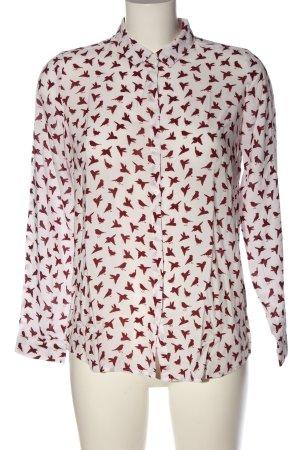 Zero Hemd-Bluse weiß-rot Allover-Druck Business-Look