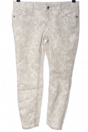 Zero High Waist Trousers white-light grey allover print casual look