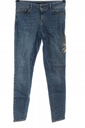 Zero Jeans a vita alta blu stile casual