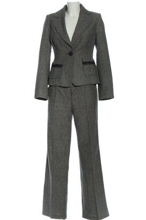 Zero Traje de pantalón negro-blanco estampado a rayas look casual