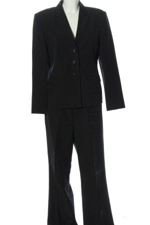 Zero Tailleur-pantalon noir style d'affaires