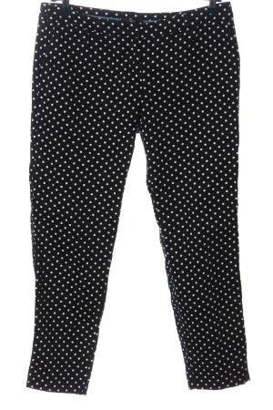 Zero pantalón de cintura baja negro-blanco estampado a lunares look casual
