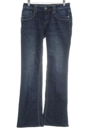 Zero Hüftjeans dunkelblau Jeans-Optik