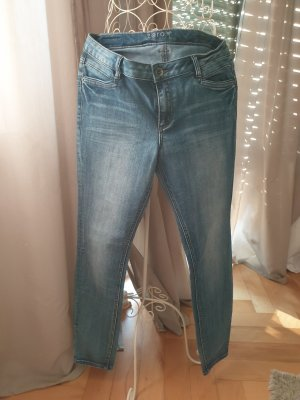 Zero Jeans slim fit grigio ardesia-blu pallido