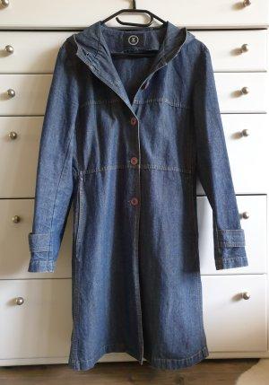 Zero Płaszcz z kapturem szary niebieski