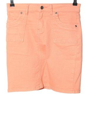 """Zero Denim Skirt """"W-rnrk1m"""" light orange"""