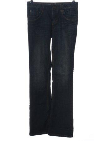 Zero Jeansowe spodnie dzwony niebieski W stylu casual