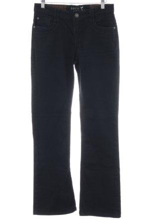 Zero Jeansschlaghose schwarz Casual-Look