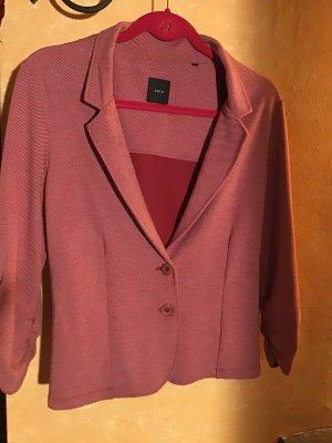 Zero Jersey Blazer, rot/weiß gestreift, Größe 38