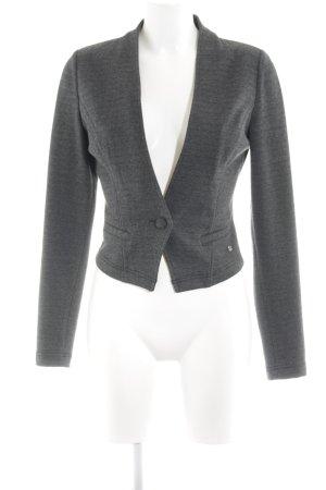 Zero Jersey blazer lichtgrijs gestippeld zakelijke stijl