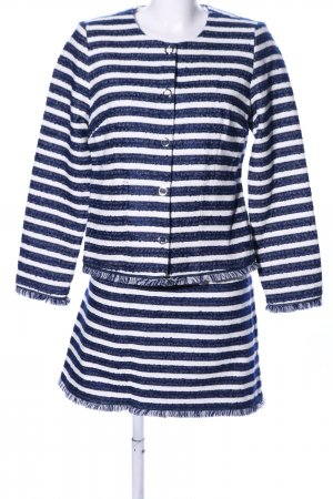 Zero Ladies' Suit blue-white striped pattern business style