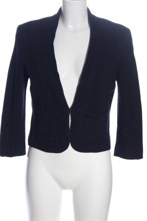 Zero Korte blazer blauw gestippeld zakelijke stijl