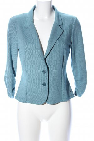 Zero Kurz-Blazer blau Webmuster Business-Look