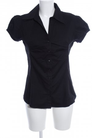 Zero Kurzarm-Bluse schwarz Business-Look