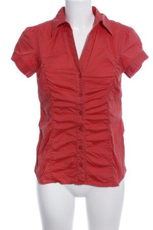 Zero Kurzarm-Bluse rot Casual-Look