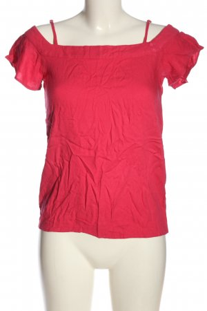 Zero Kurzarm-Bluse pink Casual-Look