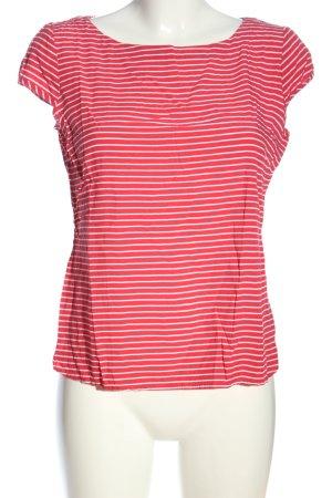 Zero Kurzarm-Bluse rot-weiß Streifenmuster Casual-Look