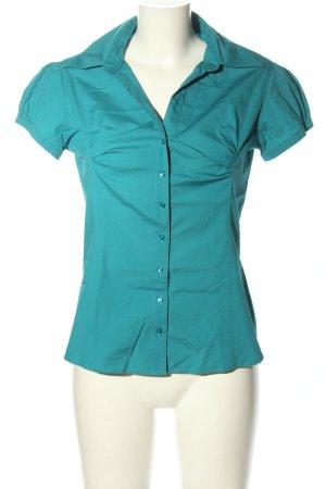 Zero Kurzarm-Bluse blau Business-Look